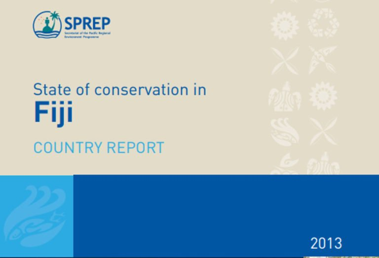 State of conservation in Fiji country report 2013
