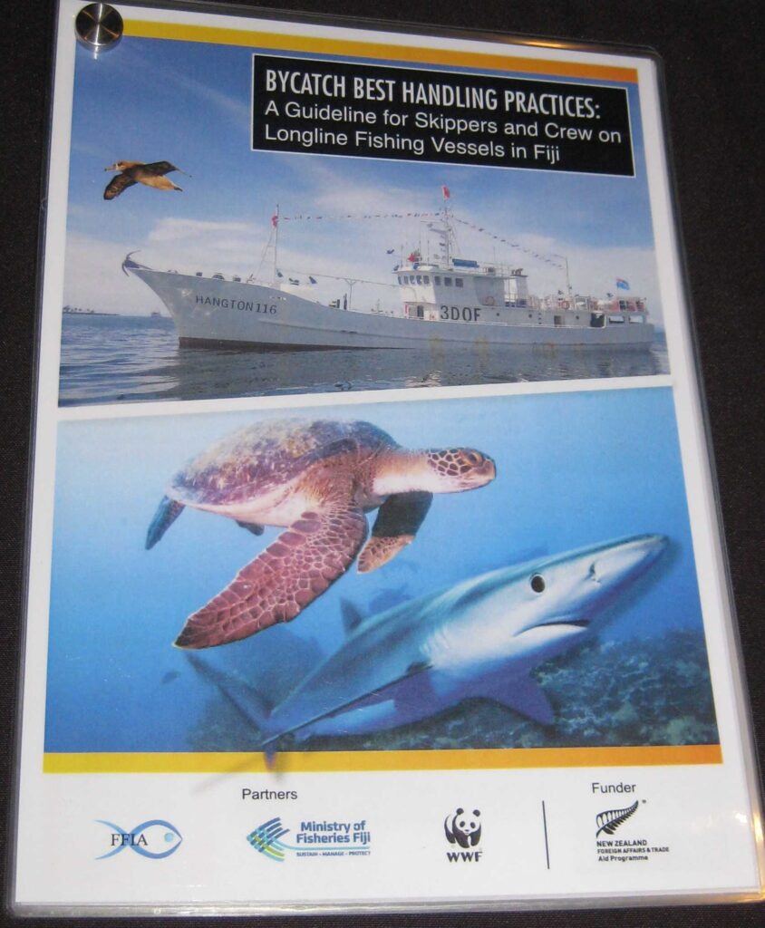 The guideline booklet shows how unwanted bycatch species can sometimes be caught alongside fishery targets and details the methods to release animals unharmed